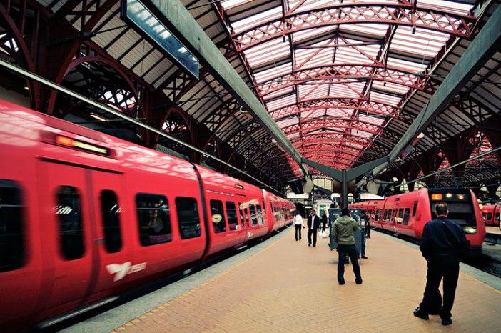 Поезд из Копенгагена в Амстердам