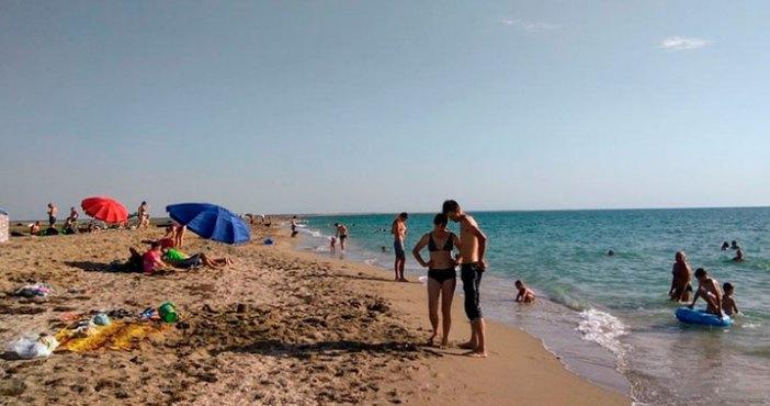 Пляж в Стерегущем, Крым
