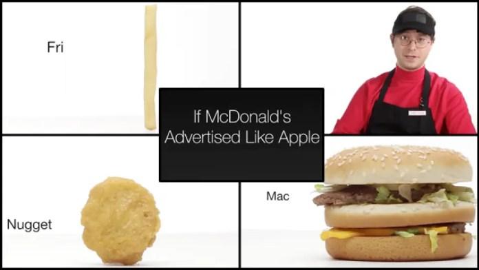 Buzzfeed If McDonald's Advertised Like Apple