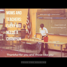 Moms and those who act like moms are our champions