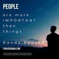 People are more important than things