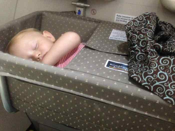 Singapore Airlines flying with a toddler singapore airlines baby bassinet
