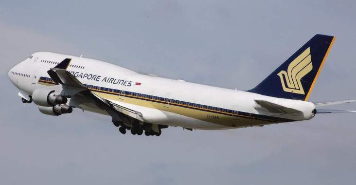Singapore Airlines with a toddler