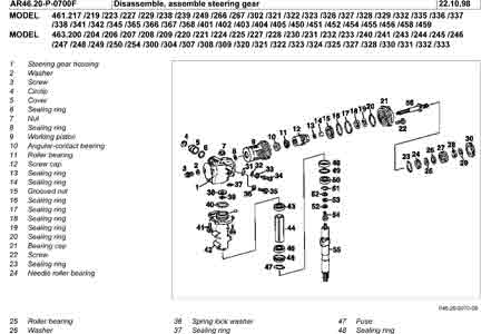 Mercedes W460/W461/W463 Steering Box Overhaul Manual PDF