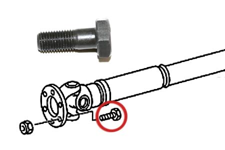 Mercedes W463 Propeller Shaft Bolt.