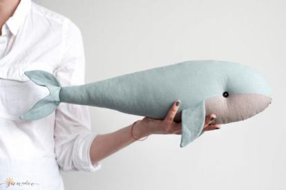 Adorable Handmade Whale OOAK Kids decor - by Sun and Co more on the blog