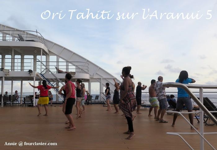 activité danse sur l'Aranui 5