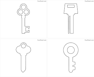 Free printable Key coloring pages for kids