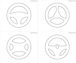 Steering Wheel Coloring Page Coloring Pages