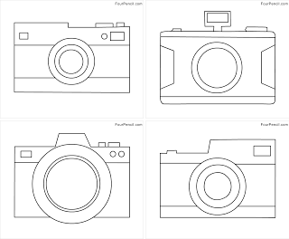 Free printable Camera coloring pages for kids