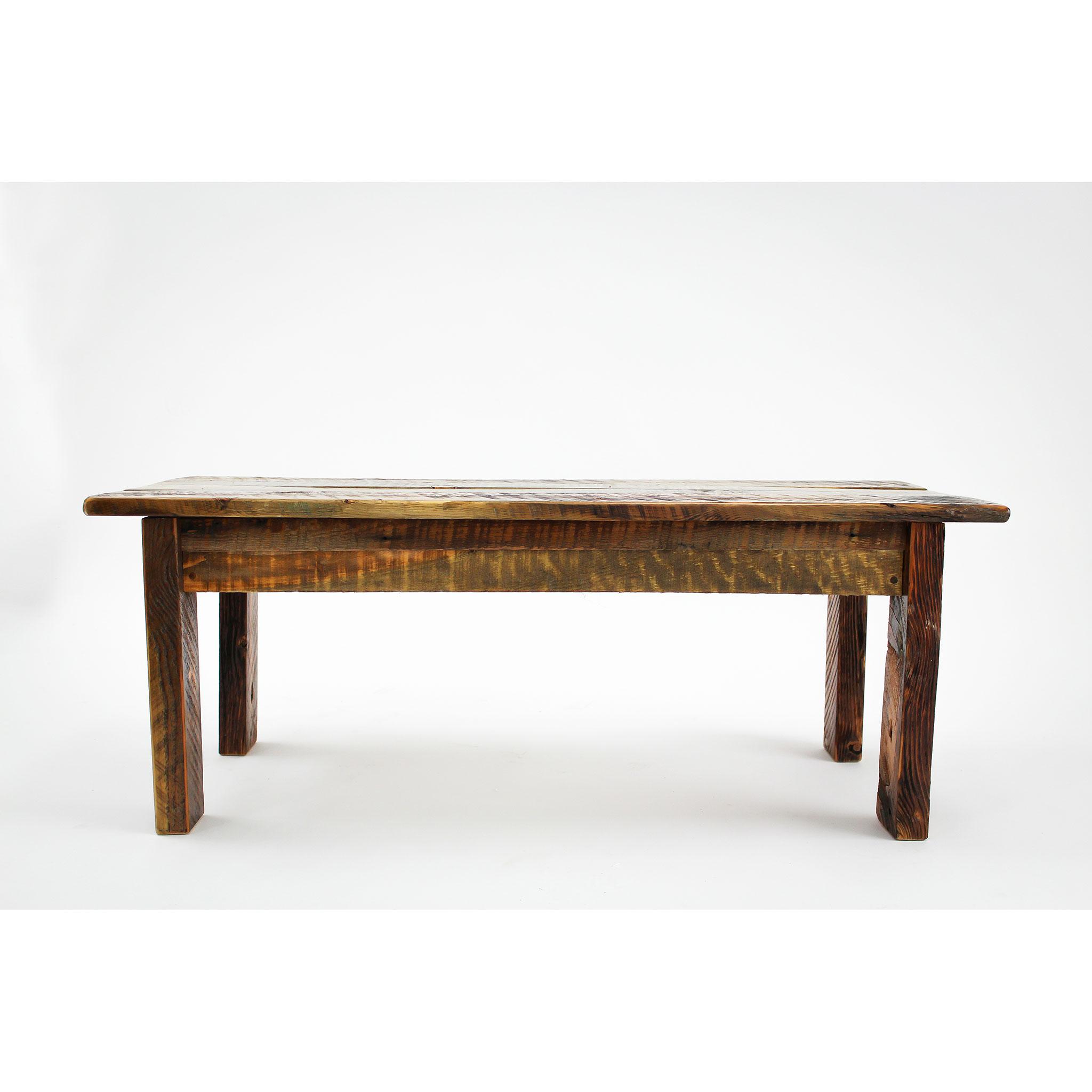 simple reclaimed barnwood coffee table