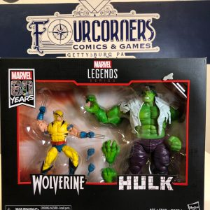 MARVEL LEGENDS 80TH ANN WOLVERINE/HULK 6IN AF SET