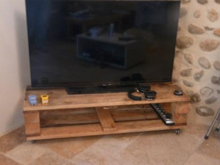 diy une palette en meuble tv