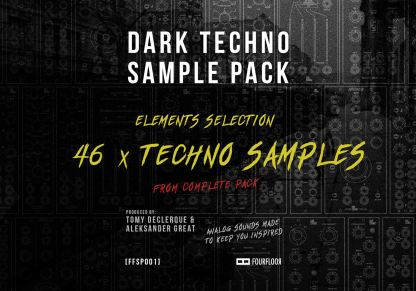 Dark Techno Sample Pack - Elements Selection - 46x Techno Samples - Royalty Free