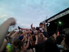 crowd surfing at Vans Warped Tour