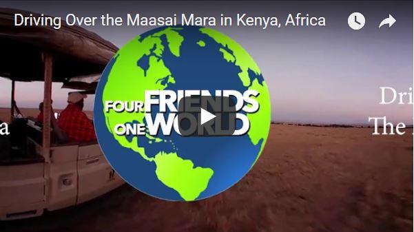 Driving Over the Maasai Mara in Kenya Africa