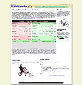 Bicycle Universe HTML Site