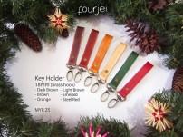 Leather Key Holder 18mm (brass hook), MYR 25 each