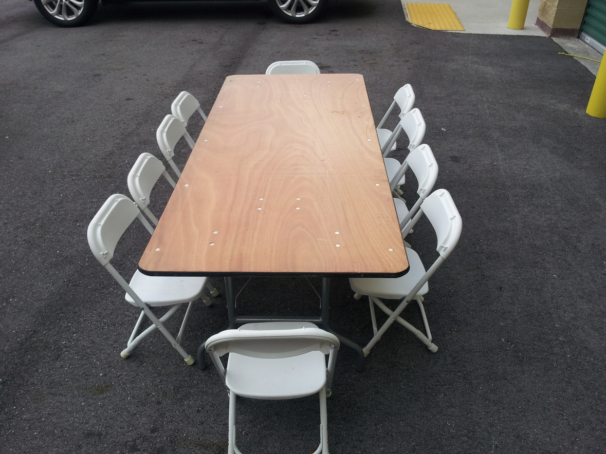 places to rent tables and chairs white leather dining room miami for broward hialeah four j