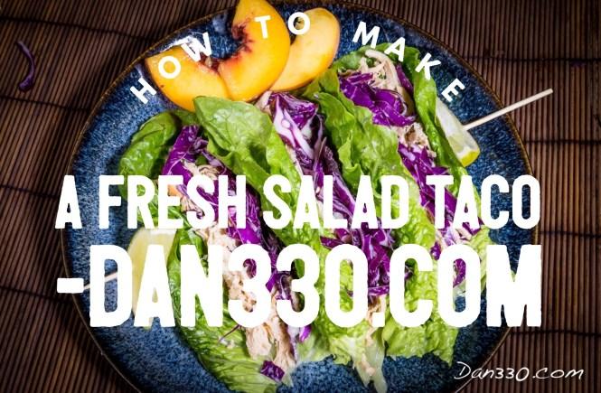 fresh salad taco