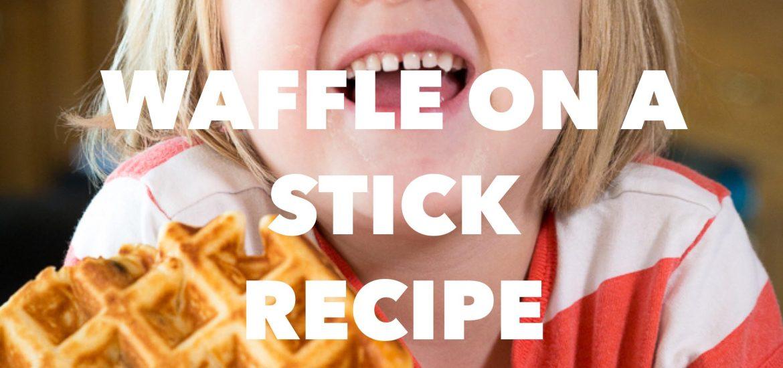 waffle on a stick