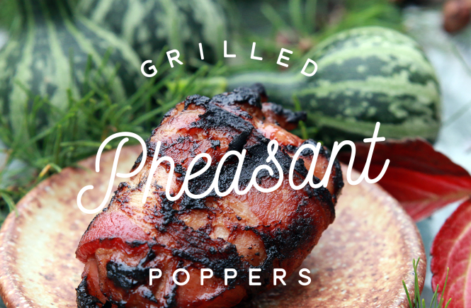 grilled pheasant poppers