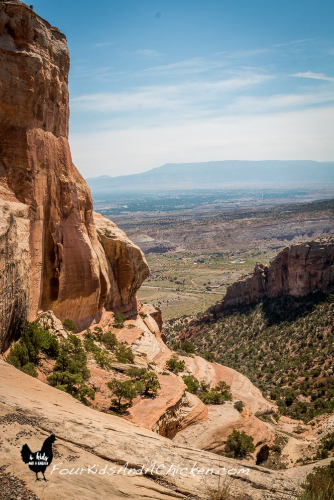 view of grand junction from colorado monument park