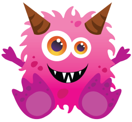 monster monsters cute clipart fluffy kid pink stuff coupon baby four clip delaware illustration inc homestead babys giveaway scary anti