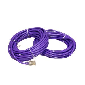 12 Gauge SJTW Purple extension cord with Single Lighted End