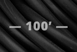 12 GAUGE SPT-3 Flat Convention Cord- Black 100'