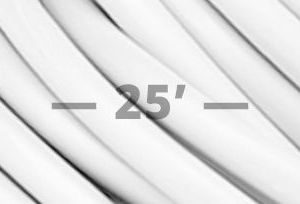 12 Gauge SPT-3 Flat Convention Cord- WHITE 25'