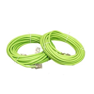 12 GAUGE SJTW HEAVY DUTY LIME GREEN EXTENSION CORD - SINGLE LIGHTED ENDS