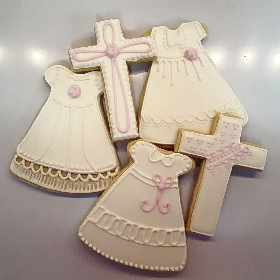 Sweet Baby Girl Christening Cookies