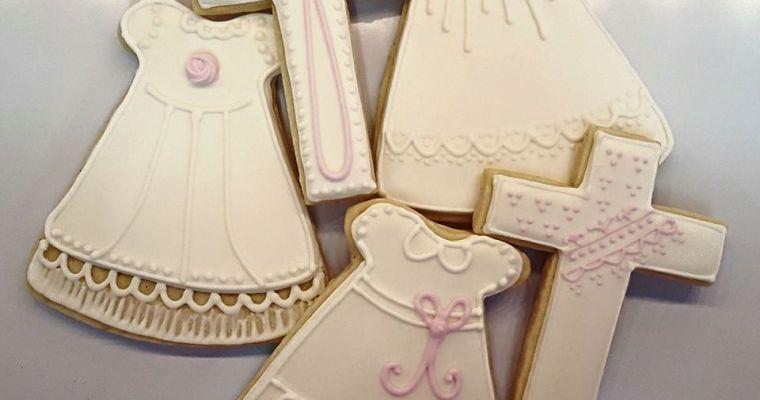 Sweet Baby Girl Christening Cookies