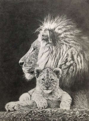animal drawing easy drawings lion draw pencil paintingvalley