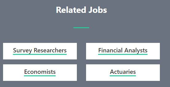 Related jobs to statisticians
