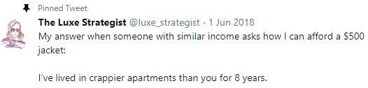 The Luxe Strategist pinned tweet