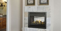 P121 Two Sided Gas Fireplace