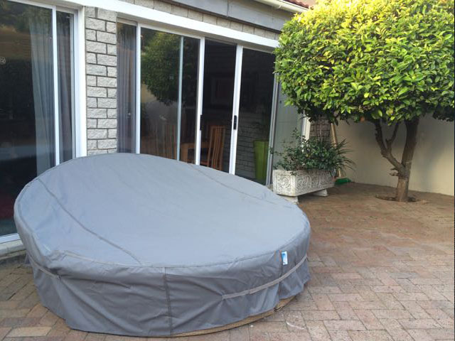 Grey Day Bed Cover