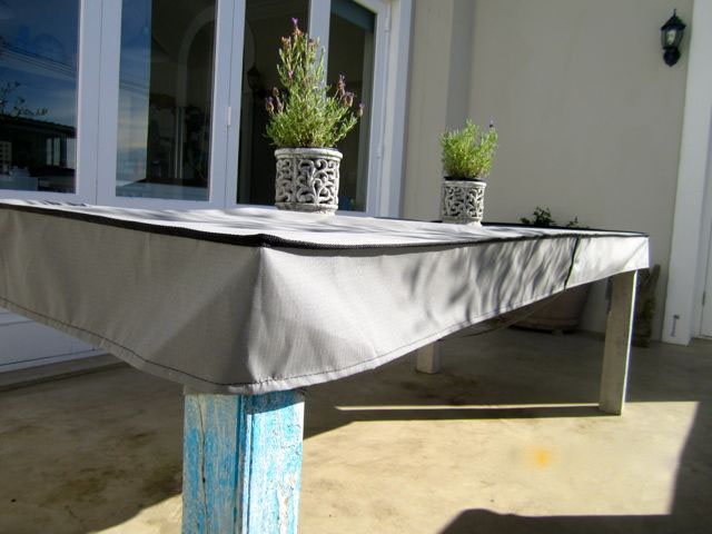 Grey table cap cover