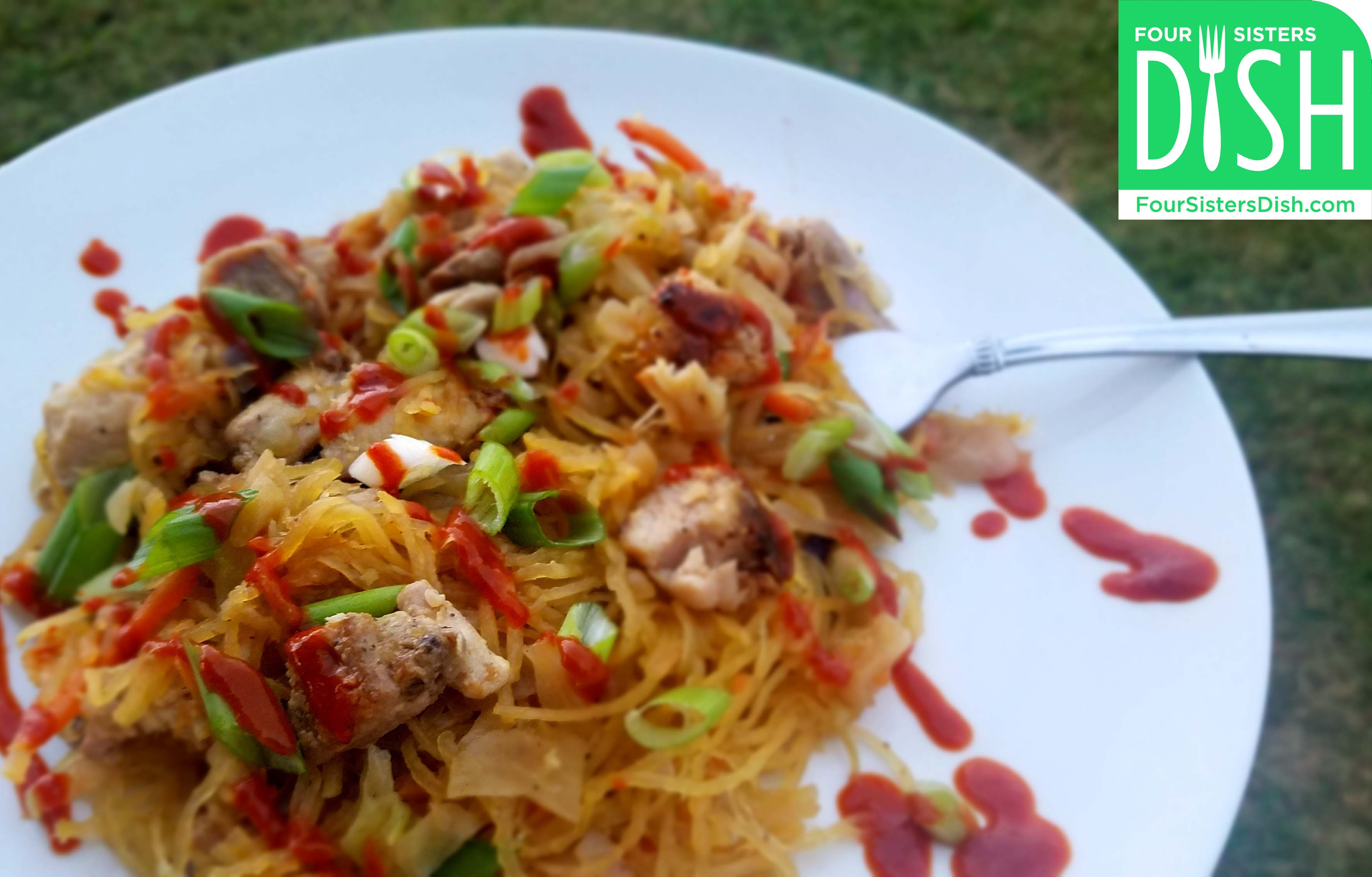 Chicken Chow Mein Spaghetti Squash