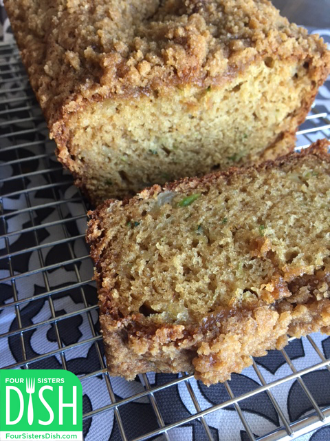 Zucchini Bread with Streusel Topping