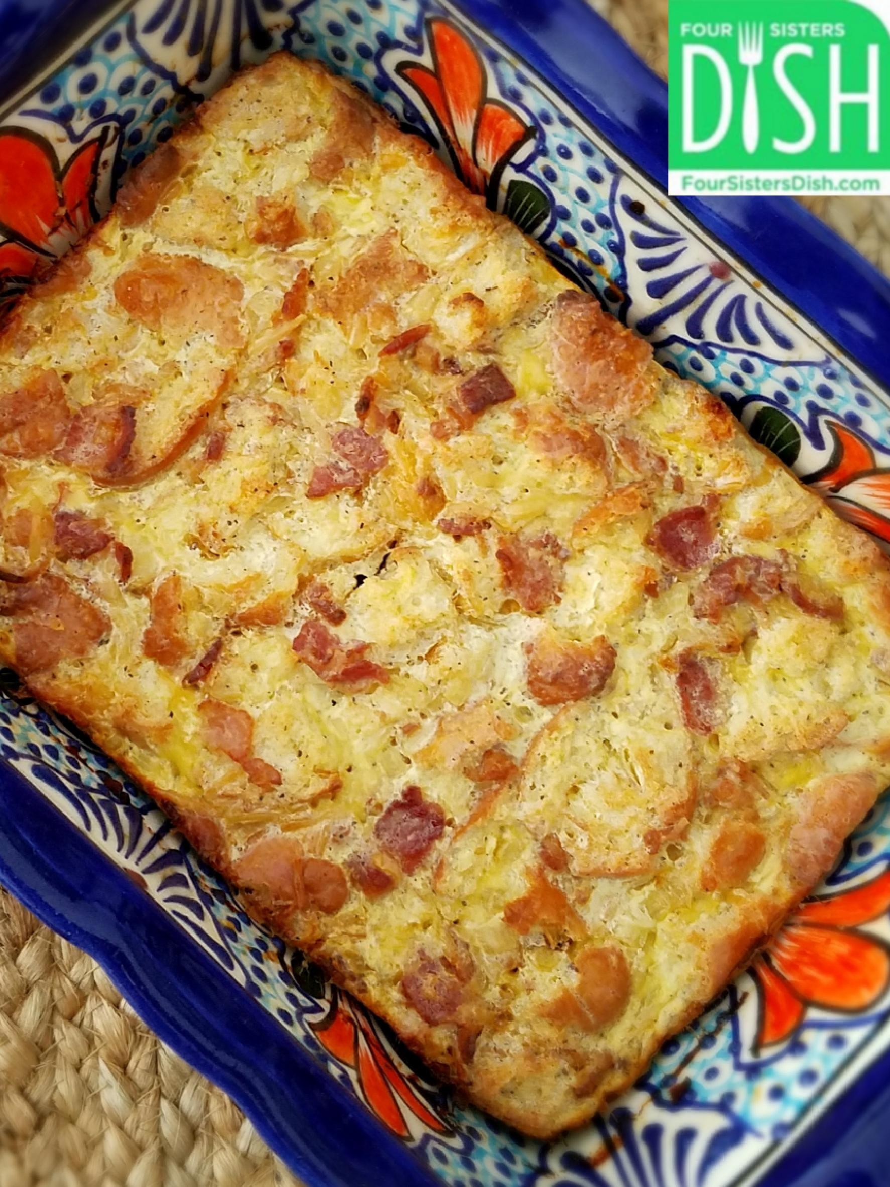 Savory Bacon & Onion Bread Pudding