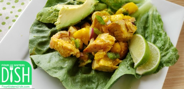 Caribbean Chicken Lettuce Wraps