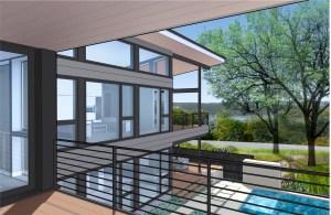 lakeway, custom home, lake view modern home