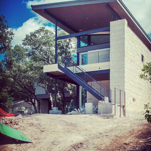 Another update on our Lake View home designed by Greyform Architecture of Houston, TX.