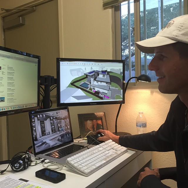 Foursquare Builders Sr. Project Manager Robert Farkas is what we call digitally connected with our design team.