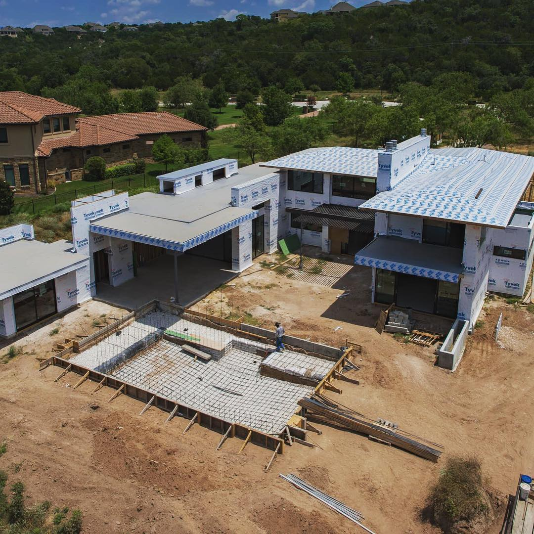 Lake Austin home moving along nicely. @jaycorder2