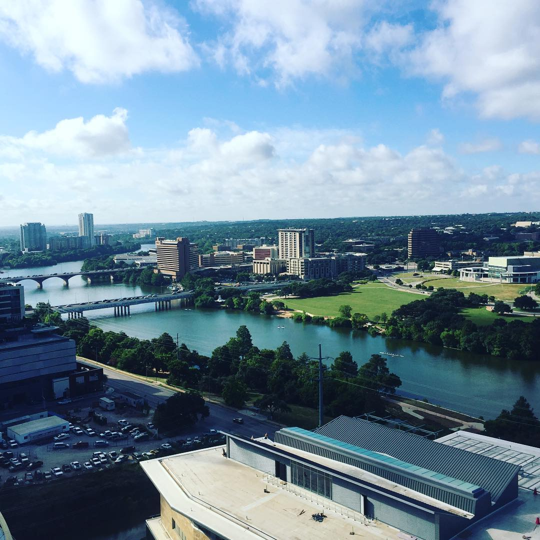 Good morning Austin, Texas. Our view from our new condo build-out. By @foursquarebuilders