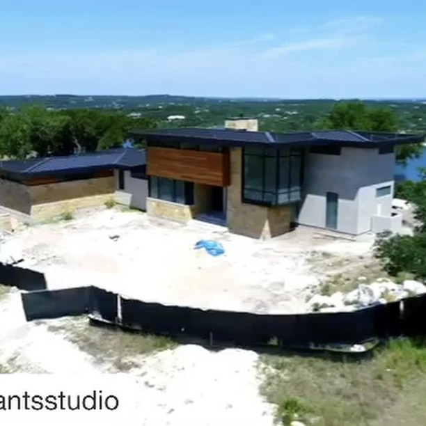 Our @dc_architecture home is wrapping up beautifully. Built by @foursquarebuilders Drone Pilot @redpantsstudio